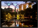 Staw, Hotel, Marina Bay Sands, Ogród, Gardens by the Bay, Singapur